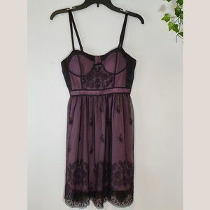 AEO Sweetheart Neckline Black Lace Mini Dress
